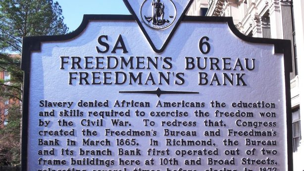 Freedmen's Bureau Freedman's Bank Marker