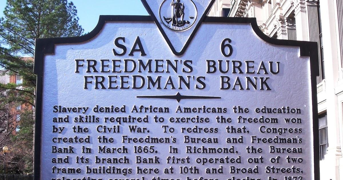 Freedmen's Bureau Freedman's Bank Marker